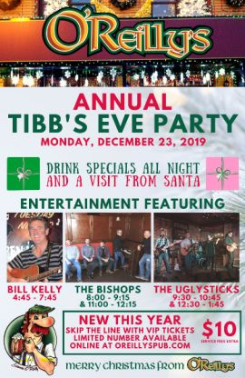 O'REILLY'S ANNUAL TIBB'S EVE PARTY AT O'REILLY'S (ST. JOHN'S) - MON DEC 23 2019
